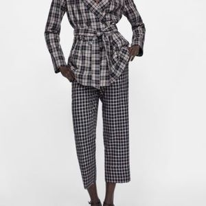 Zara cropped plaid pants NEW